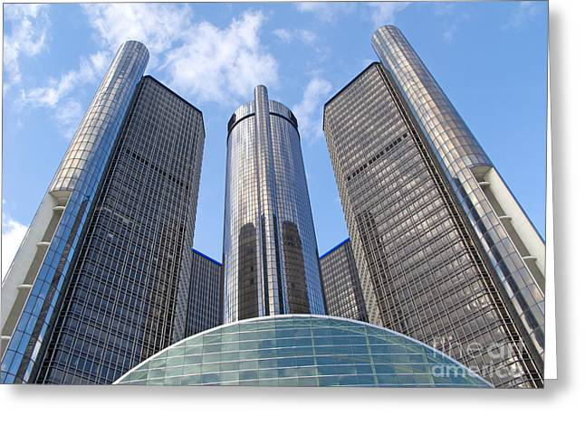 Detroit Renaissance Center Greeting Card