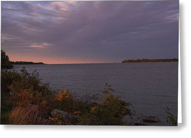 Detroit River Greeting Card by Gary Marx