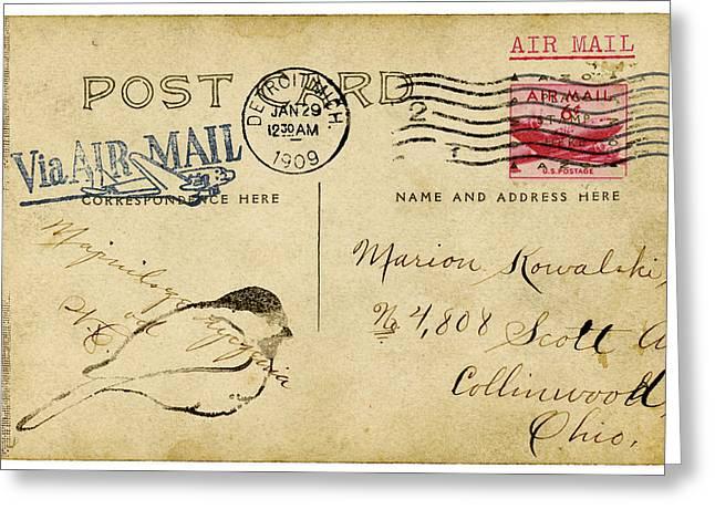 Detroit Sketch 1909 Greeting Card by Carol Leigh