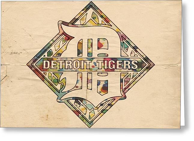 Detroit Tigers Poster Art Greeting Card by Florian Rodarte