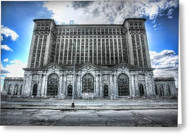 Detroit's Abandoned Michigan Central Train Station Depot Greeting Card by Gordon Dean II