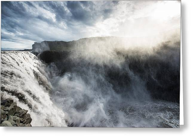Dettifoss Waterfall North Iceland Greeting Card by Matthias Hauser