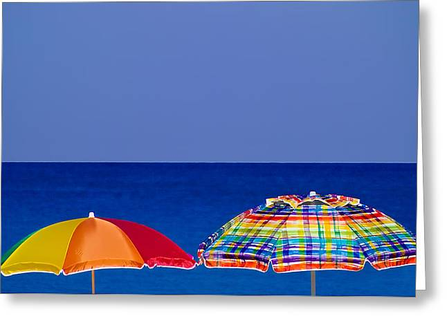 Deuce Umbrellas Greeting Card
