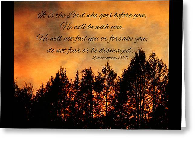 Deuteronomy The Lord Goes Before You Greeting Card