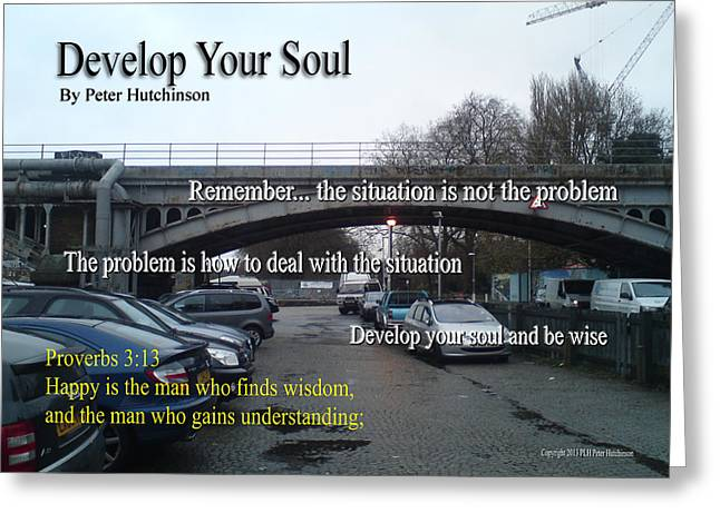 Develop Your Soul Greeting Card