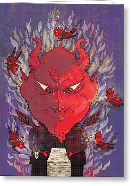 Devil In The Details Greeting Card by Dennis Wunsch