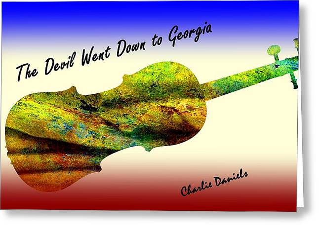 Devil Went Down To Georgia Daniels Fiddle  Greeting Card