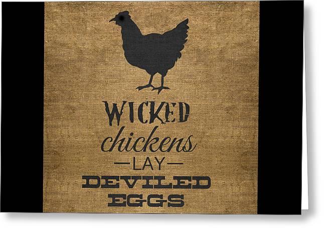 Deviled Eggs Greeting Card