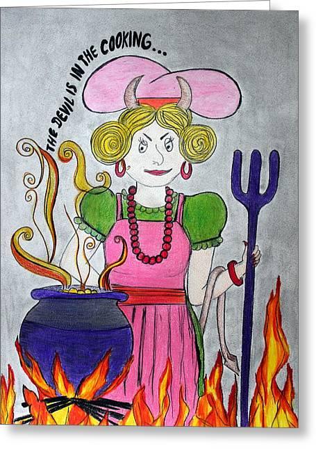 Devilish Cook Greeting Card