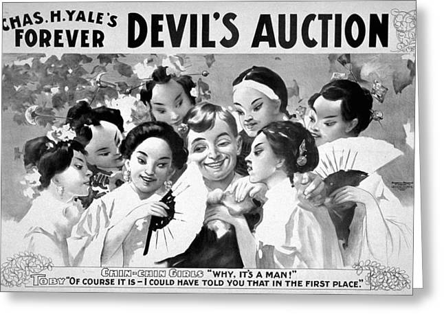 Devil's Auction, C1899 Greeting Card by Granger