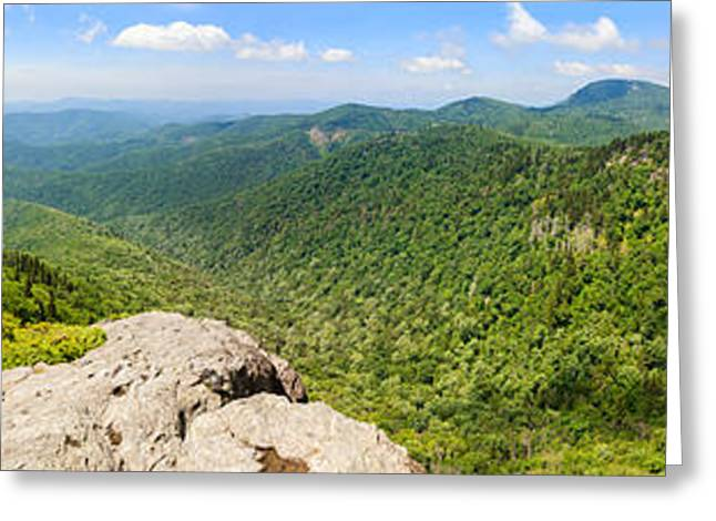 Devils Courthouse, Appalachian Greeting Card by Panoramic Images