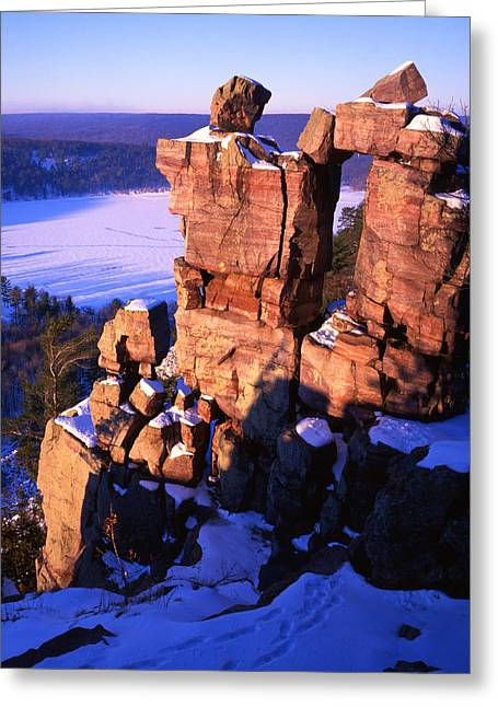 Devil's Doorway Greeting Card by Ray Mathis