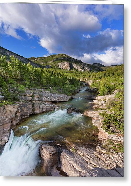 Devils Glen On The Dearborn River Greeting Card by Chuck Haney