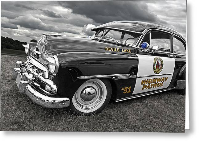 Devils Lake Highway Patrol - '51 Chevy Greeting Card