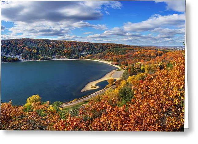 Devil's Lake In Autumn Greeting Card