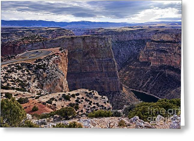 Devil's Overlook Bighorn Canyon National Recreation Area Greeting Card by Gary Beeler