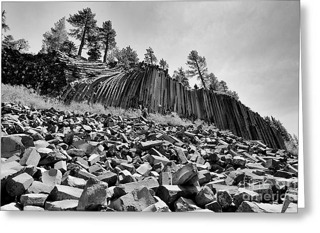 Devils Postpile National Monument Greeting Card