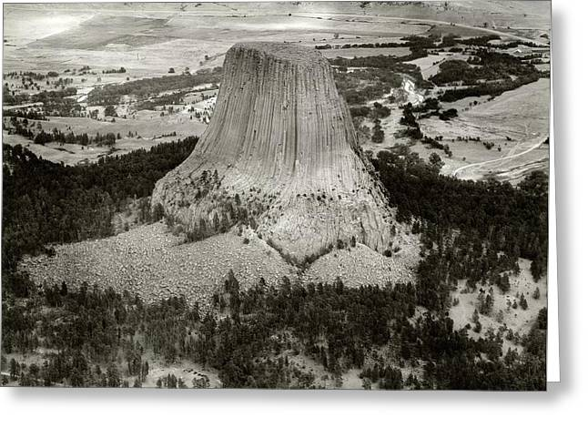 Devils Tower Greeting Card by American Philosophical Society