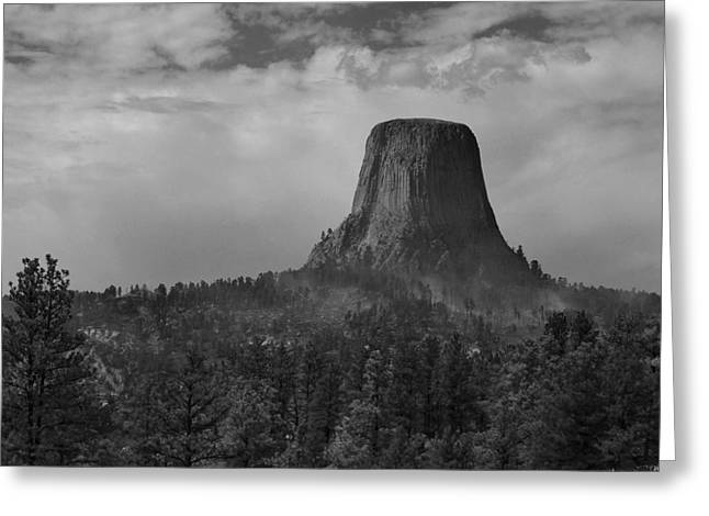 Devil's Tower Burns Greeting Card