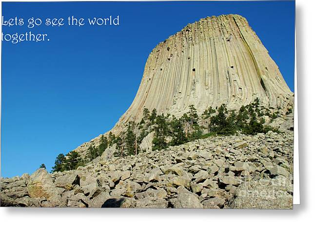 Devils Tower Card 2 Greeting Card
