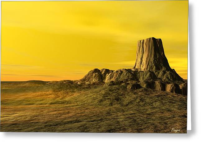 Devils Tower Greeting Card by John Pangia