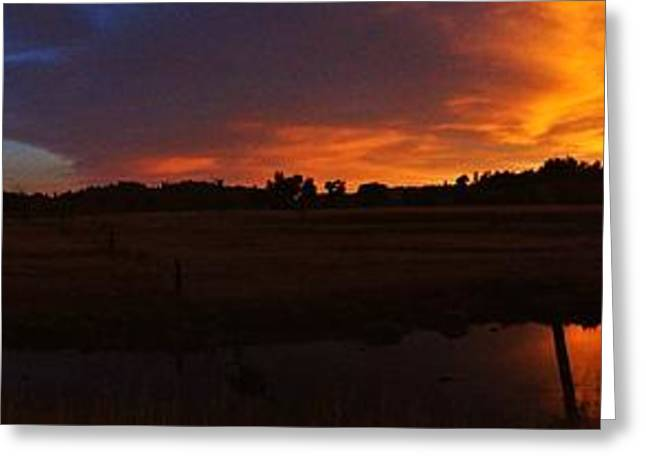 Devils Tower Sunrise Panorama Greeting Card by Benjamin Yeager