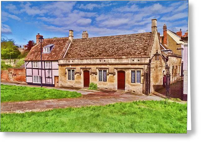 Greeting Card featuring the photograph Devizes Cottages by Paul Gulliver