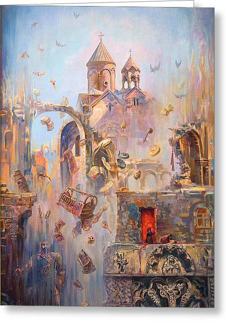 Devoted To The Saint Memory Of The Victims Of Armenian Genocide Greeting Card