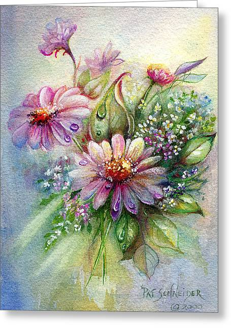 Dewdrop Daisies Greeting Card