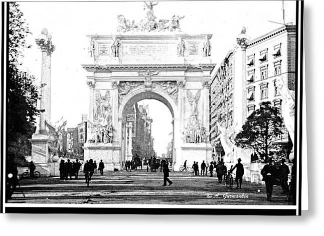 Dewey Arch Monument New York City 1900 Greeting Card by A Gurmankin
