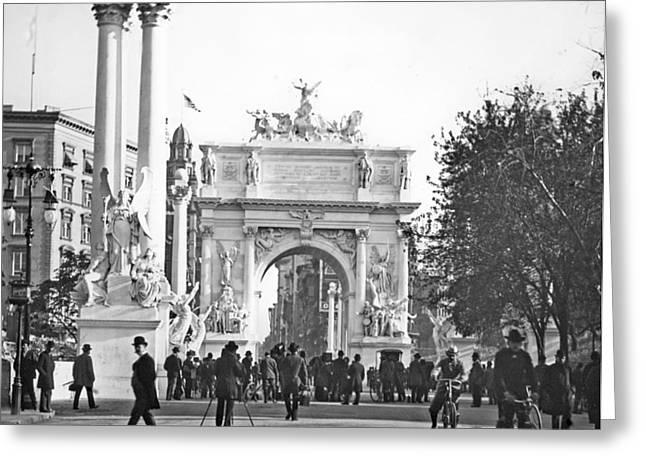 Dewey's Arch New York City 1900 Vintage Photograph Greeting Card by A Gurmankin