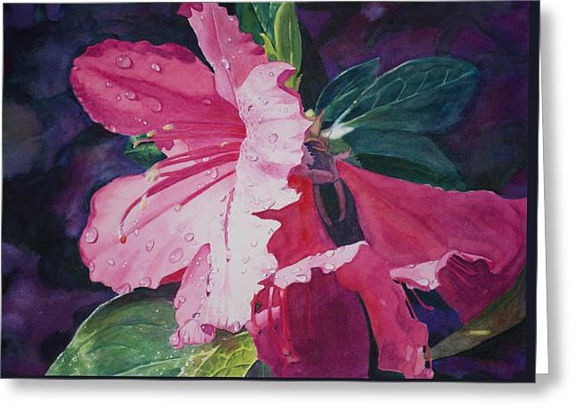Dewy Azalea Greeting Card
