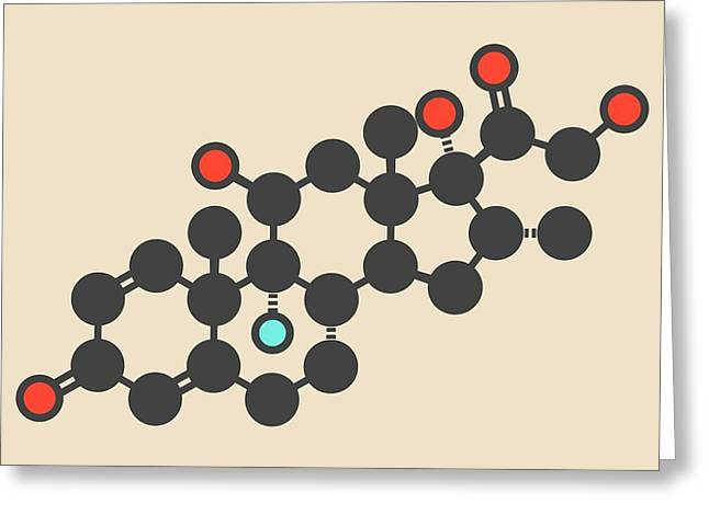 Dexamethasone Glucocorticoid Molecule Greeting Card by Molekuul