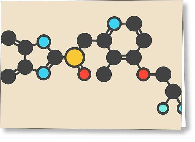 Dexlansoprazole Drug Molecule Greeting Card