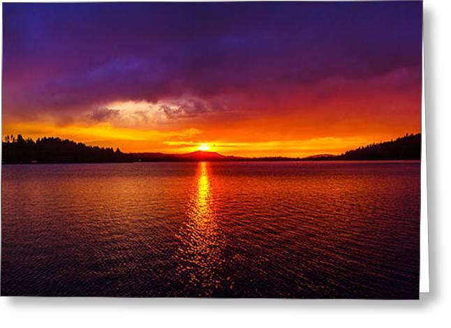 Dexter Lake Oregon Sunset 2 Greeting Card