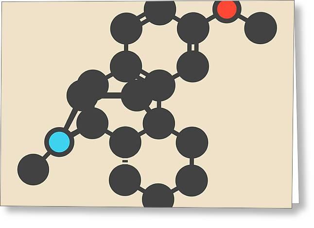 Dextromethorphan Cough Drug Molecule Greeting Card by Molekuul