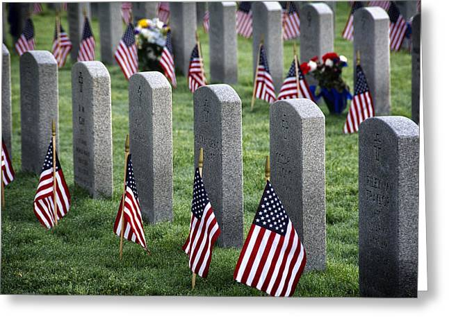 Dfw National Cemetery Greeting Card