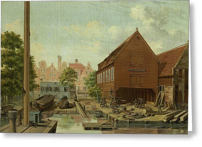 Dhollandsche Tuin Shipyard On Bickers Island In Amsterdam Greeting Card