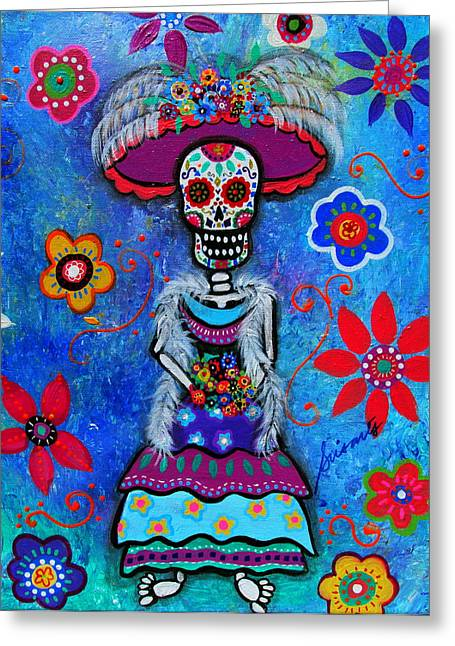 Dia De Los Muertos Catrina Greeting Card
