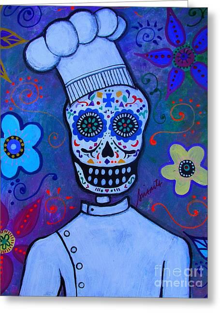 Dia De Los Muertos Cocinero Greeting Card