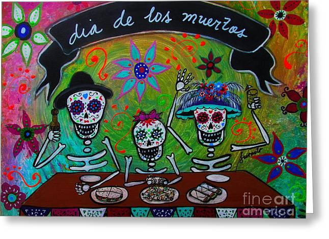 Dia De Los Muertos Familia Greeting Card