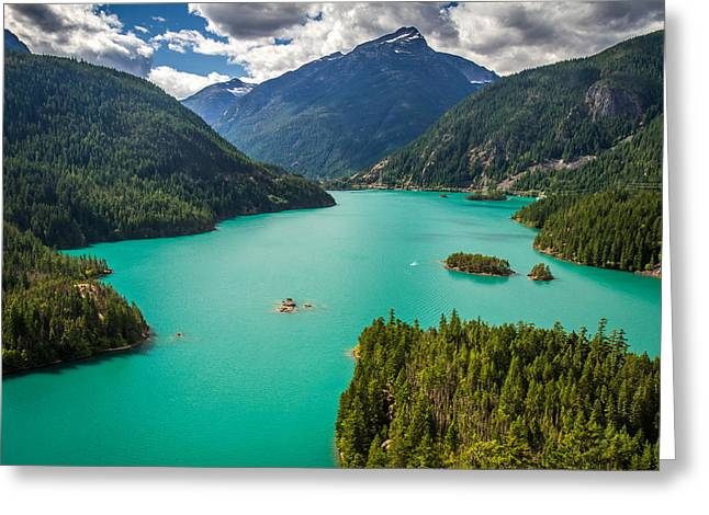 Diablo Lake  Greeting Card by Pierre Leclerc Photography
