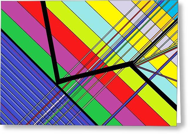 Diagonal Color Greeting Card