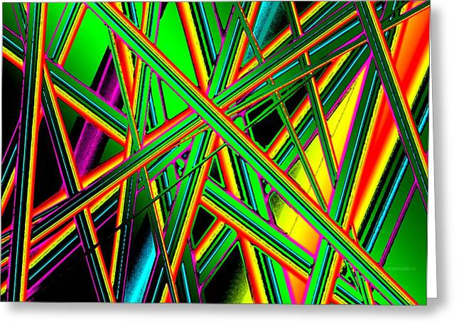 Diagonal Lines Greeting Card by Mario Perez