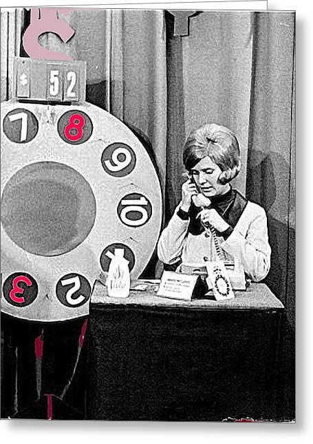 Dialing For Dollars Sue Green Kvoa Tv Tucson Arizona Circa 1965-2013 Greeting Card by David Lee Guss