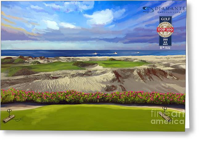 Diamante Dunes Cabo 16th Greeting Card