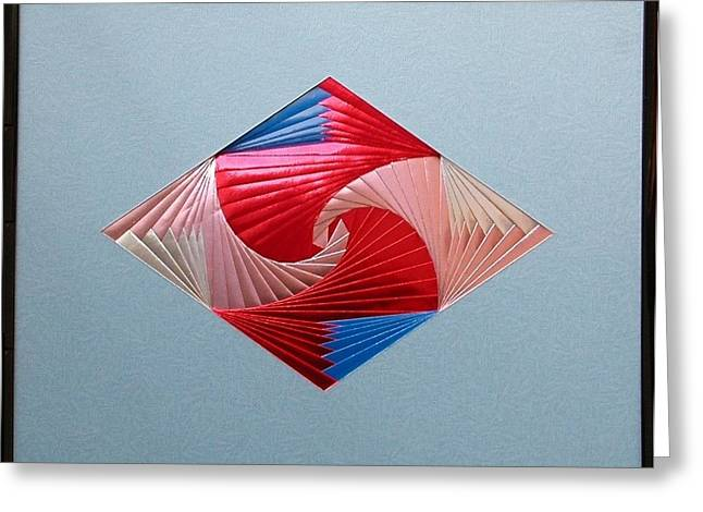 Greeting Card featuring the mixed media Diamond Design by Ron Davidson