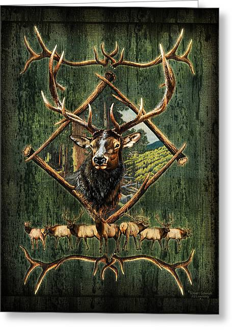Diamond Elk Greeting Card
