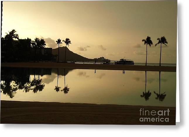 Diamond Head Reflection Greeting Card