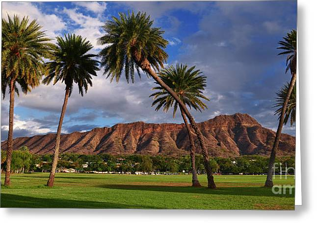 Diamond Head State Monument Before Sunset Greeting Card
